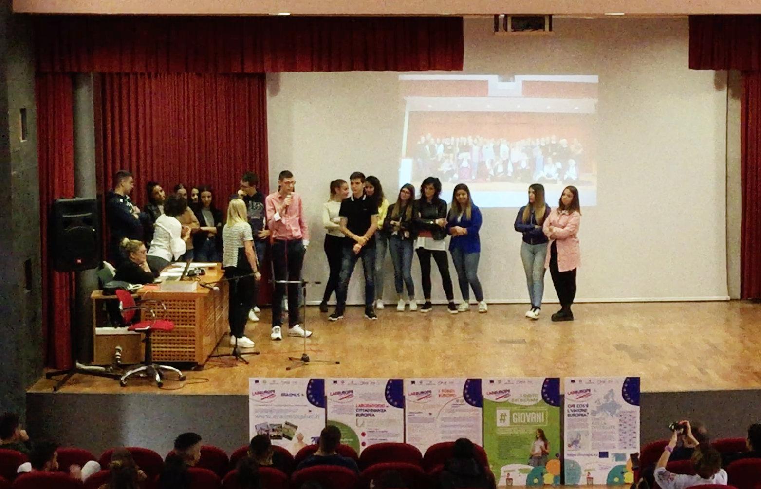 Alcuni ragazzi dell'Erasmus Team Italiano